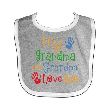 Love Baby Bib (My Grandma and Grandpa Love Me Baby)