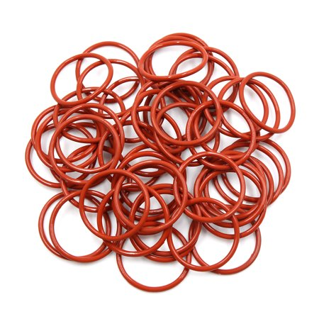 50pcs Brown Silicone Rubber O-Ring VMQ Seal Gasket Washer for Car 44mm x 3.1mm - image 3 de 3