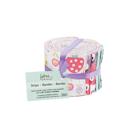 Fabric Editions- Cotton Fabric, 20pc Strips Roll PIPPET MOSEBY