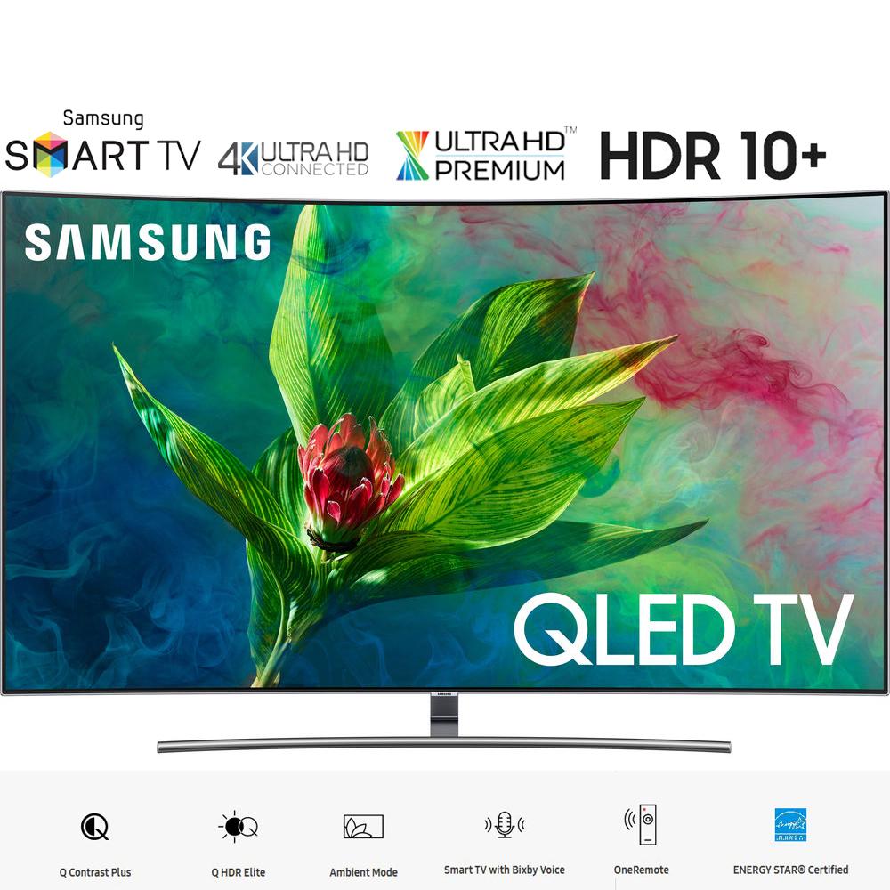 "Samsung QN55Q7CNA 55"" Q7 QLED Curved Smart 4K UHD TV (2018 Model)- (Certified Refurbished)"