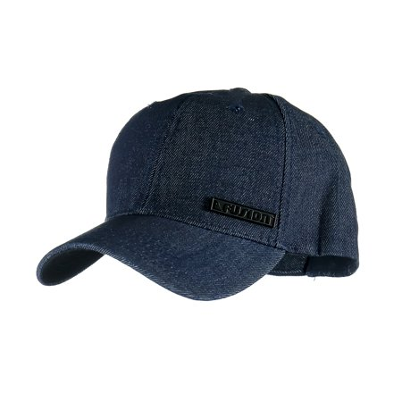 Fusion Climb Sens Cotton Denim Adjustable Backclosure Outdoor Sports Baseball Golf Cap Polo Style Unisex Dad Hat Sun Shade Visor Blue