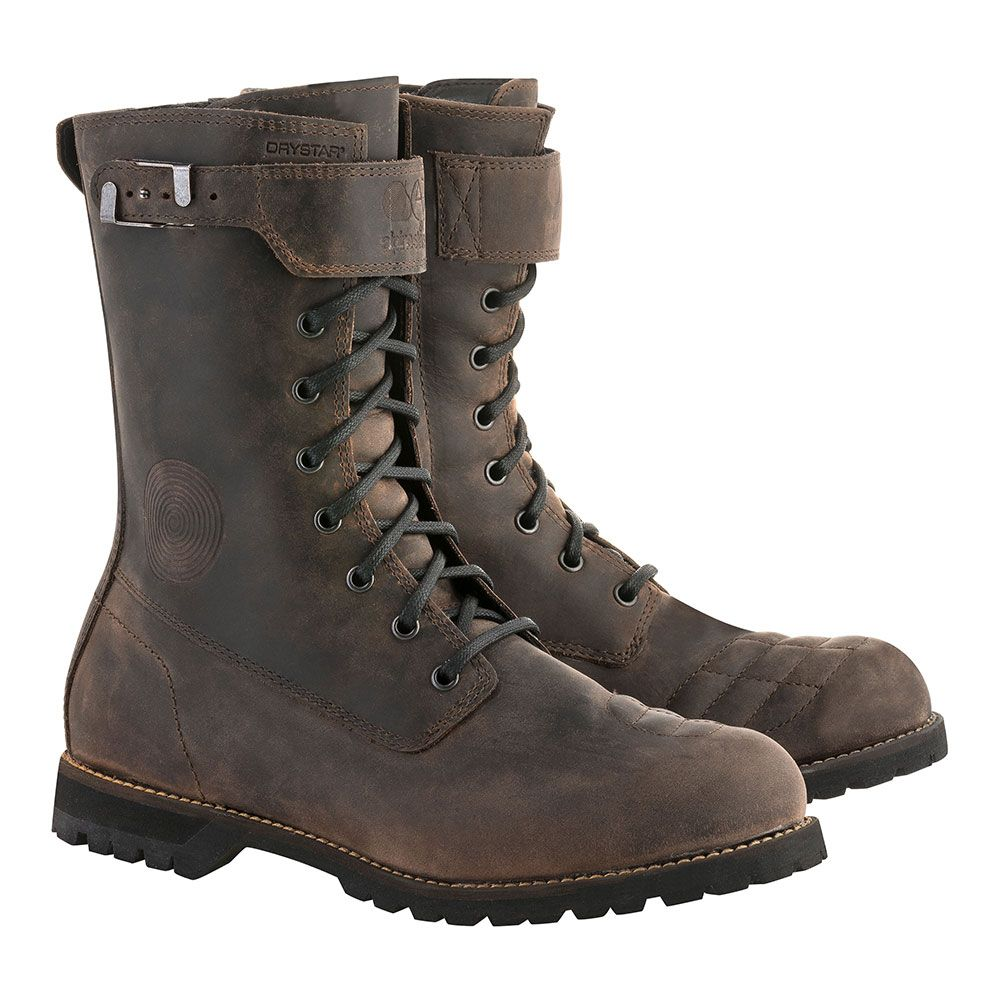 Alpinestars Firm Drystar Boots Dark Brown Oiled