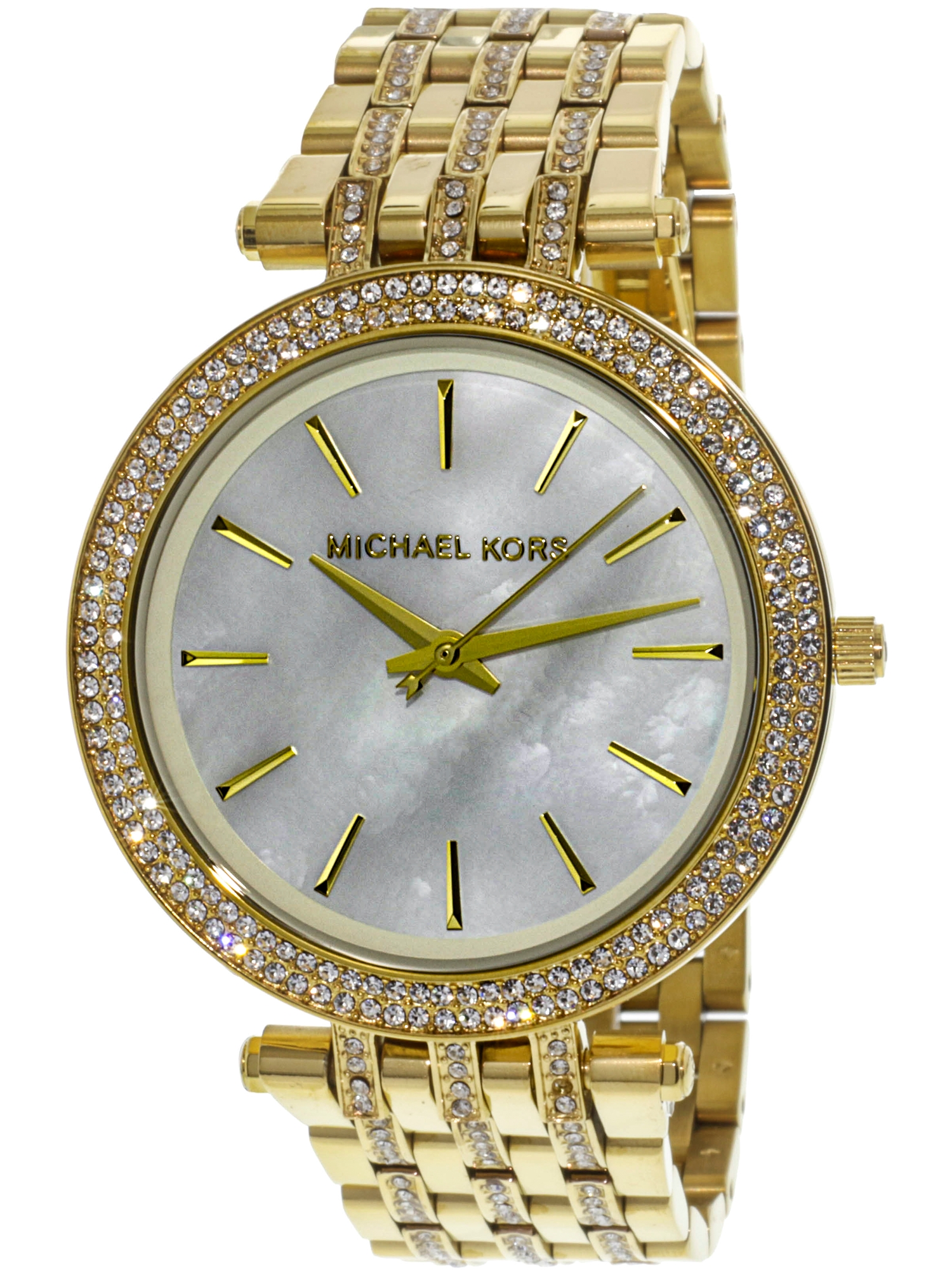 Michael Kors Women's Darci MK3219 Mother-Of-Pearl Stainless-Steel Japanese Quartz Dress Watch