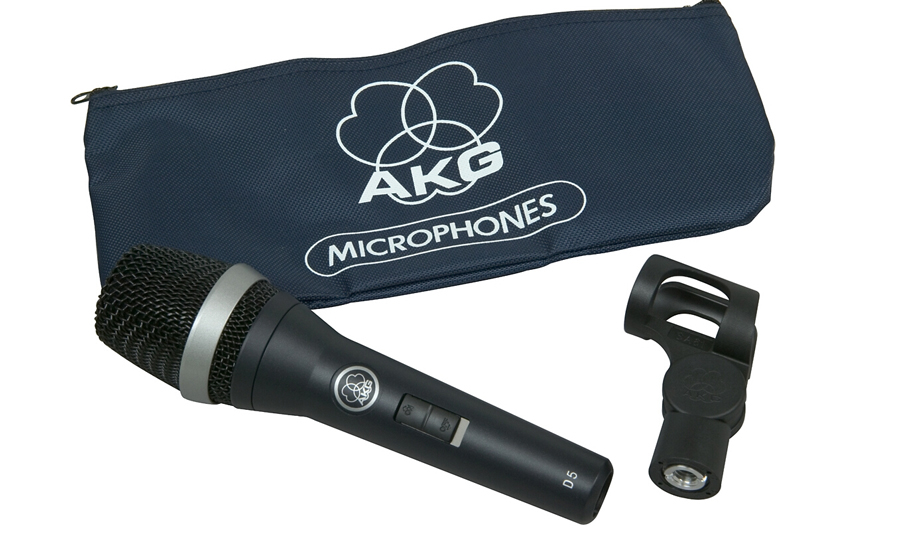 AKG D5 S Supercardioid Dynamic Vocal Microphone with On Off Switch by Harman