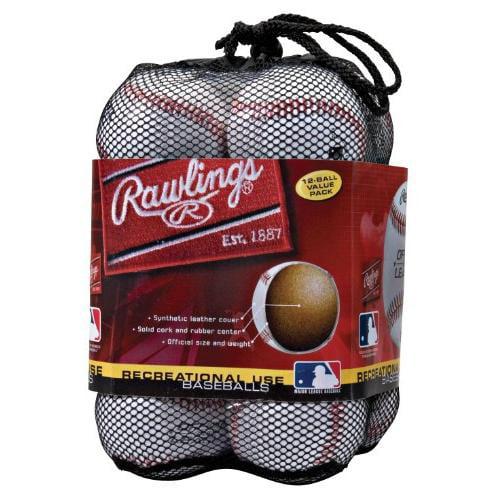 Rawlings OLB3BAG12 Official League Recreational Use Baseballs (Pack of 12)