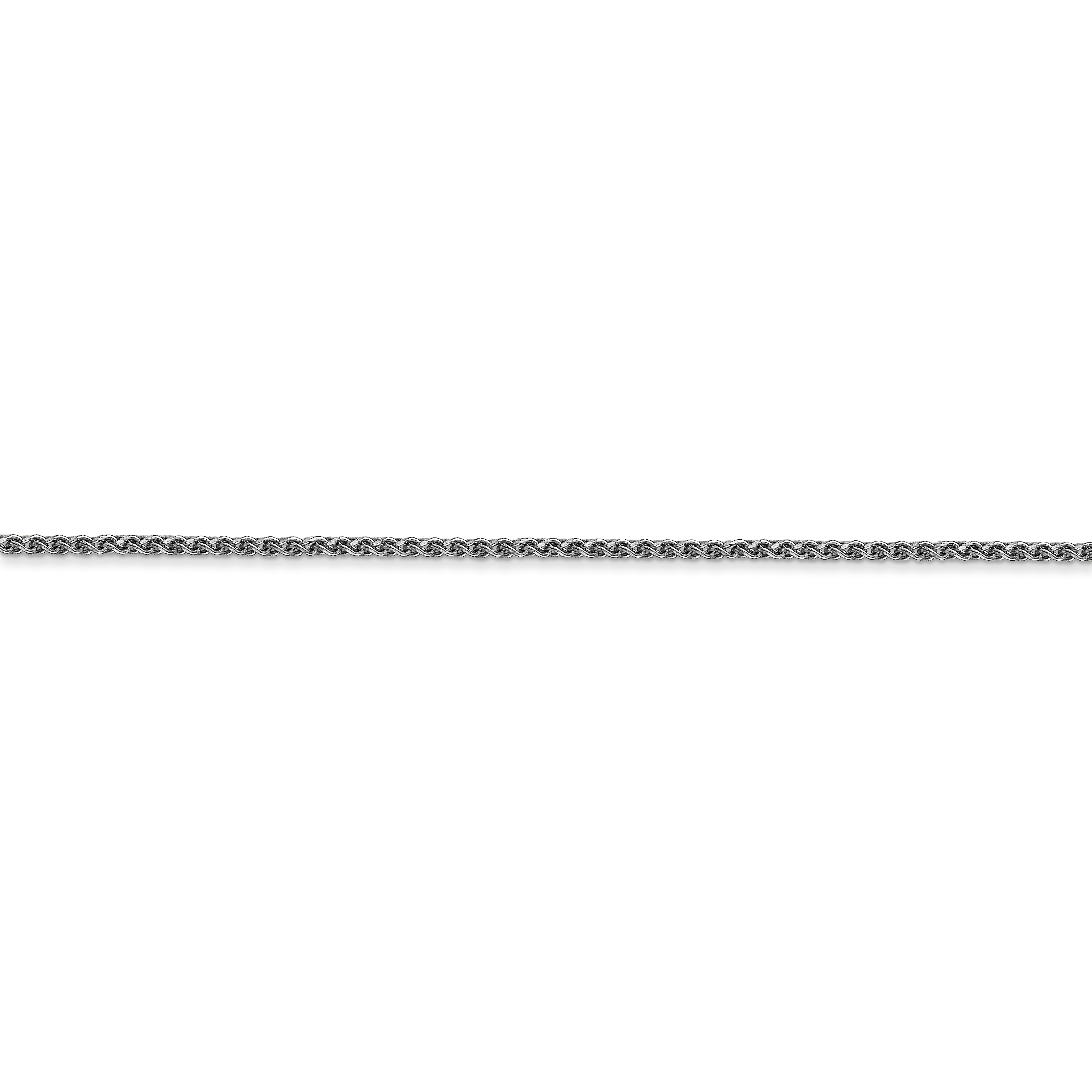 14k White Gold 1.2mm Solid Spiga Chain Necklace 16 Inch Pendant Charm Wheat Fine Jewelry Gifts For Women For Her - image 4 of 5