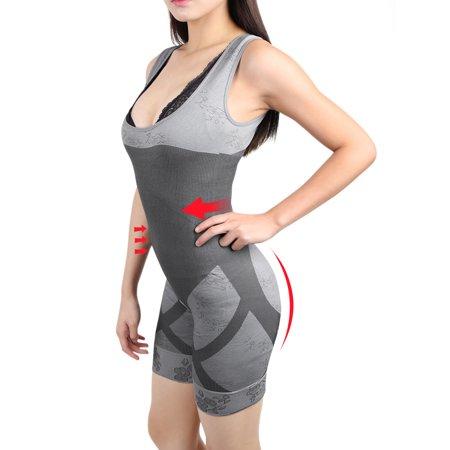 8ef090725bd S-M Women Full Body Shapewear Waist Tummy Slimming Shaper Underwear Gray -  image 1 of 7 ...