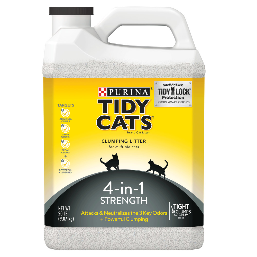 Purina Tidy Cats 4-in-1 Strength Clumping Cat Litter, 20 Lb.