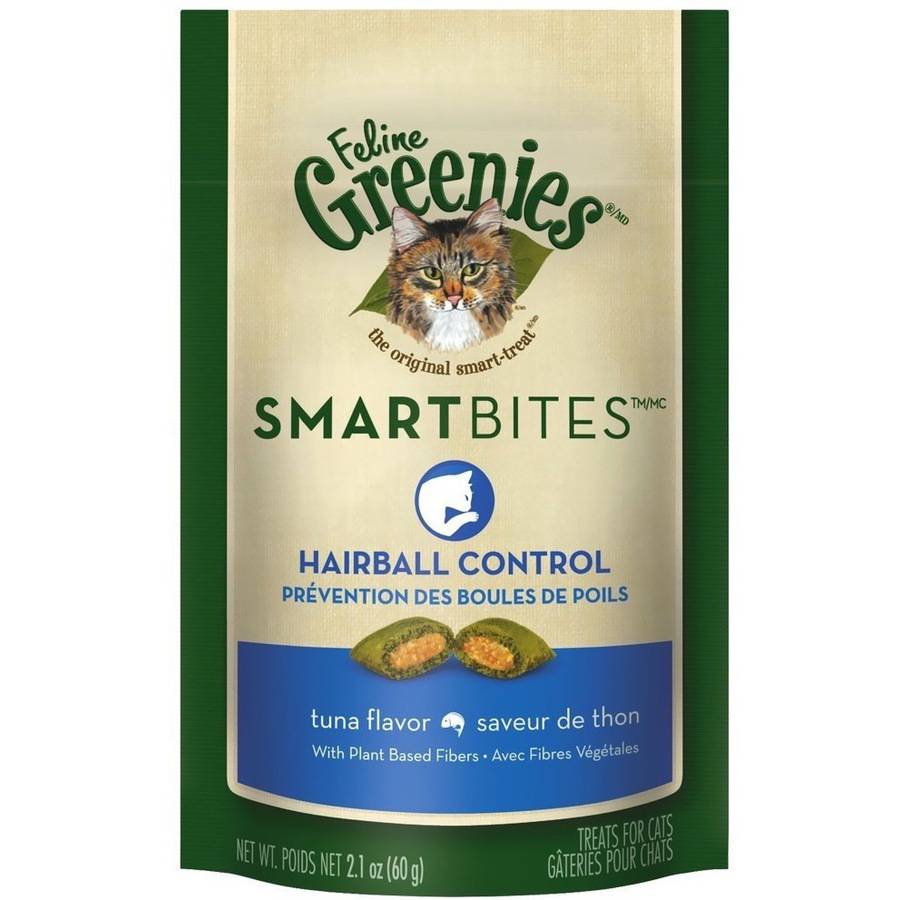 Feline Greenies SMARTBITES Hairball Control Tuna, 2.1 oz