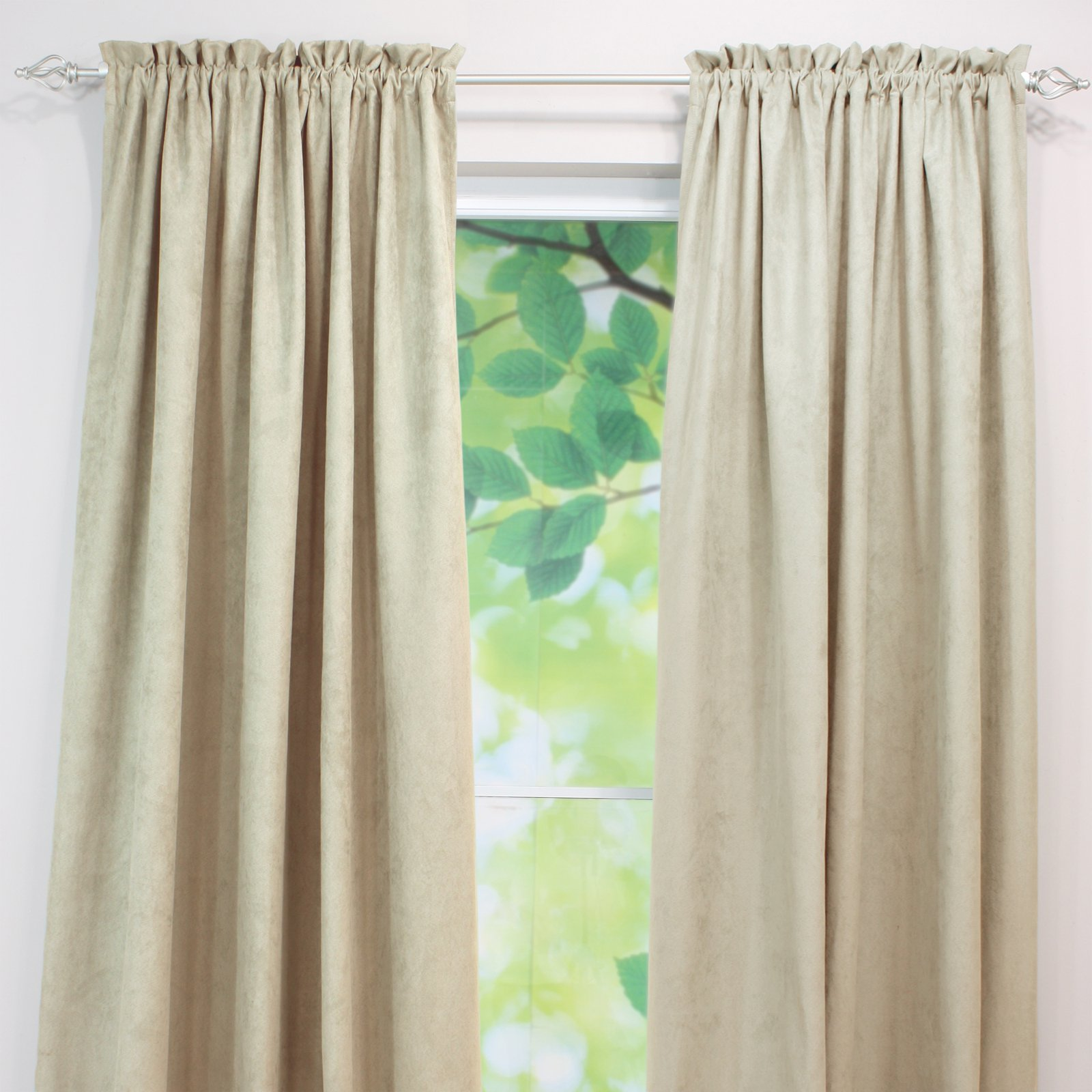 Brite Ideas Living Passion Suede Rod Pocket Curtain Panel