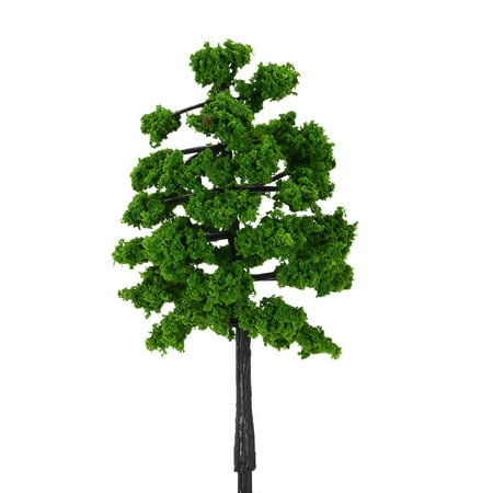 10 Pieces Plastic Model Trees Architectural Model Railroad Layout Garden Landscape Scenery Doll Weddings Diorama