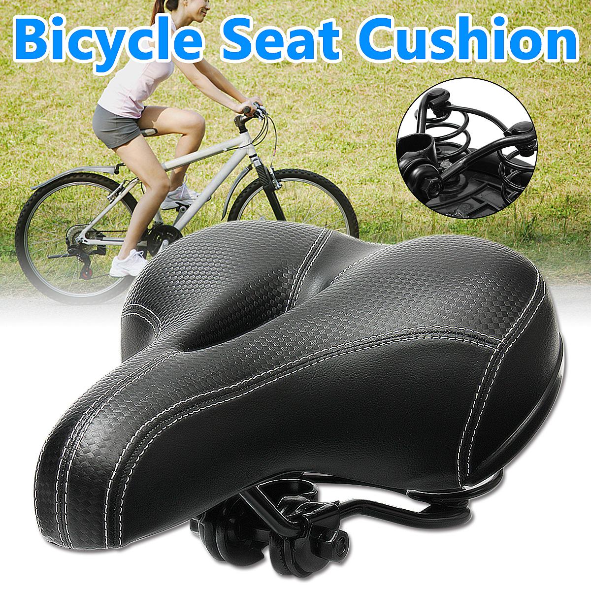 Saddle sprung black ladies unisex universal bike seat bicycle comfort cycle