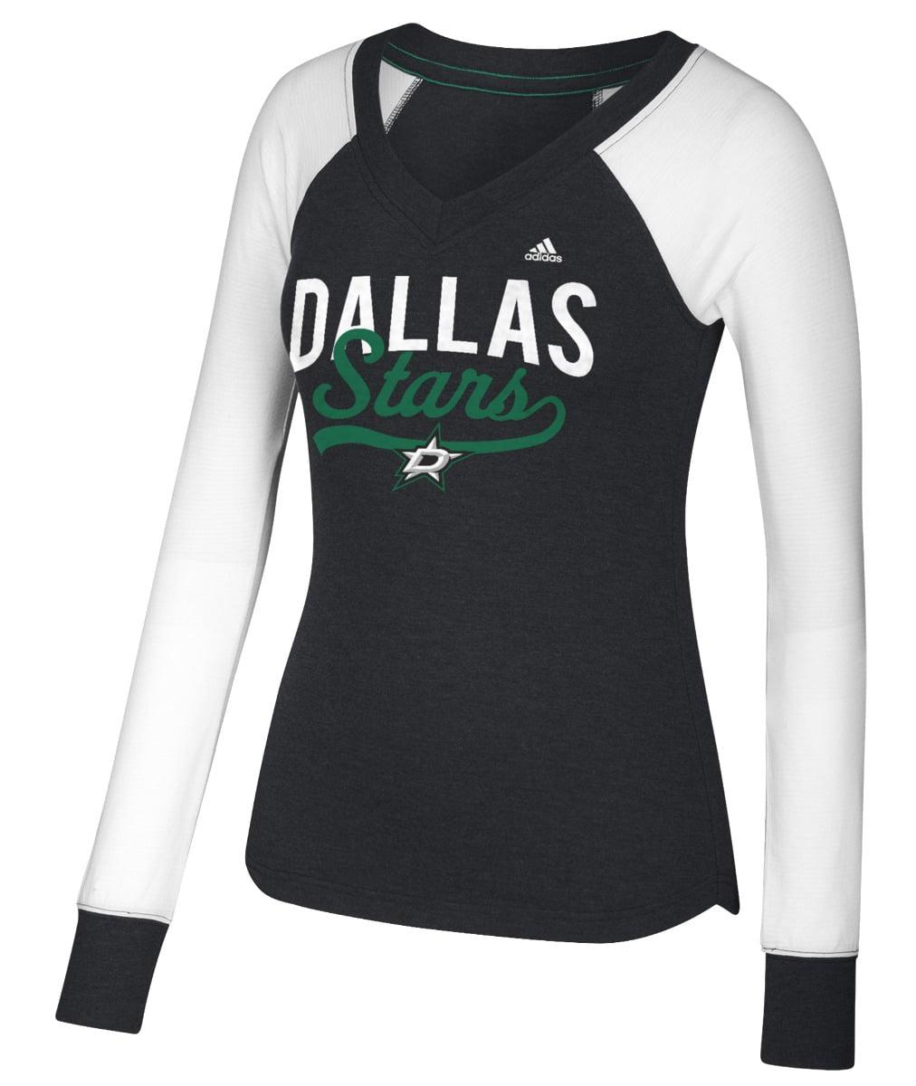 "Dallas Stars Women's Adidas NHL ""Puck Drop"" Dual Blend Long Sleeve T-shirt by Adidas"