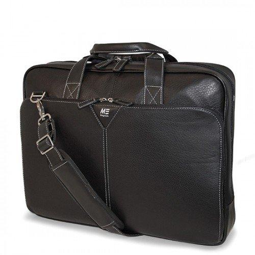 "Mobile Edge Deluxe Notebook Briefcase - 13"" X 17"" X 4"" - Leather - Black (mebcl1)"