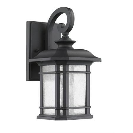 "CHLOE Lighting FRANKLIN Transitional 1 Light Black Outdoor Wall Sconce 17"" Height"
