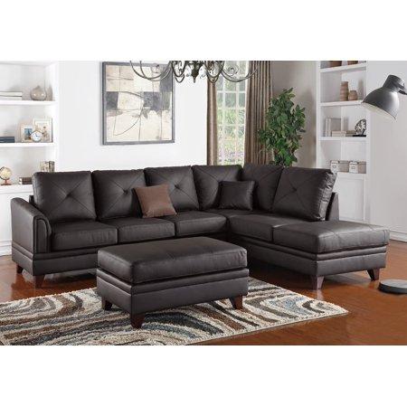 Terrific 1Perfectchoice L Shaped Sectional Sofa Chaise Ottoman Set Theyellowbook Wood Chair Design Ideas Theyellowbookinfo
