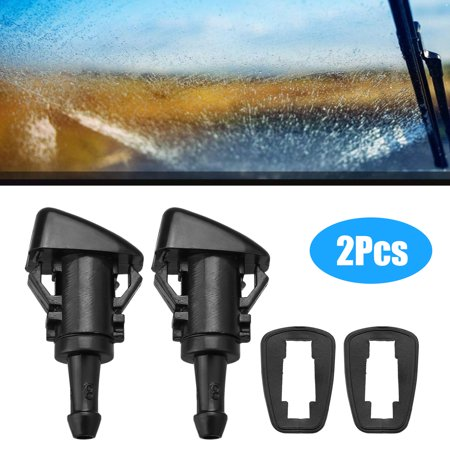 EEEkit 2x Windshield Washer Nozzle Wiper for Chrysler Dodge Caliber Fits for Chrysler 300 Dodge Ram 1500 2500 3500 Dodge Caliber 2007-2012 2005-2010 Jeep Grand Cherokee (1999 Jeep Grand Cherokee Windshield Washer Reservoir)