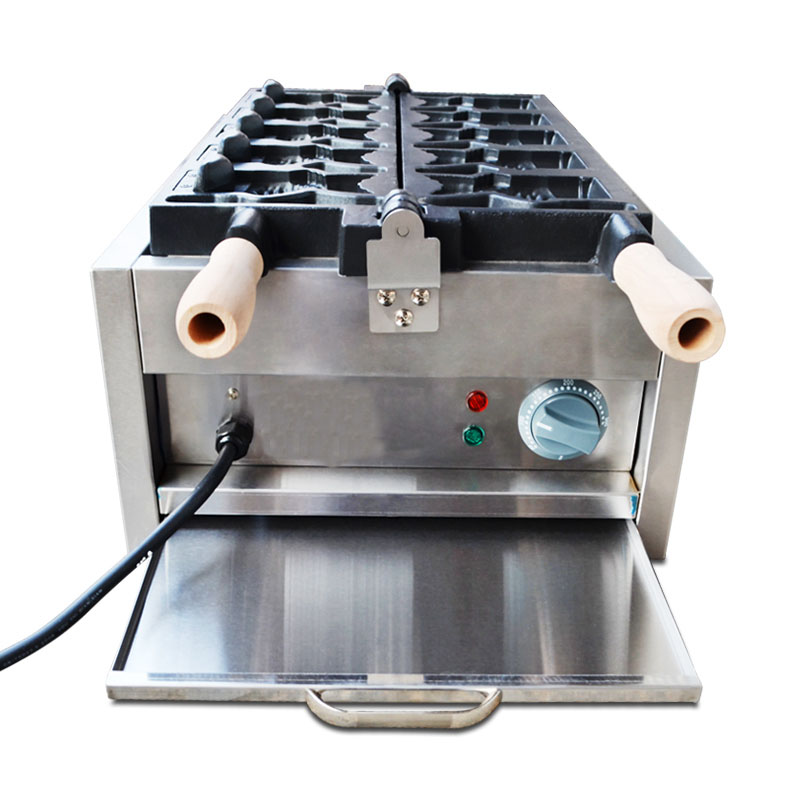 Electric Taiyaki Machine Taiyaki Making Maker Fryer Fish Type Waffle Machine