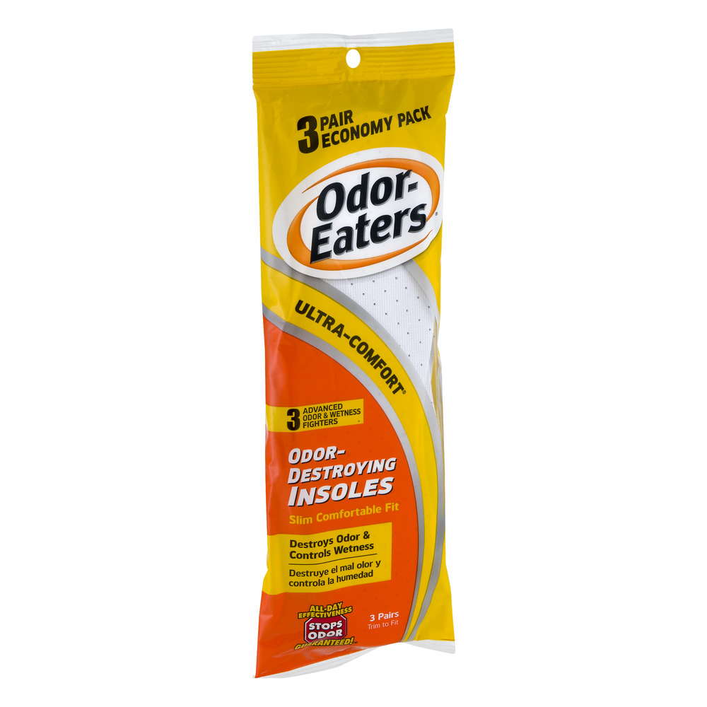 Odor-Eaters Ultra-Comfort Odor-Destroying Insoles, Anti-fungal, 3 Pack