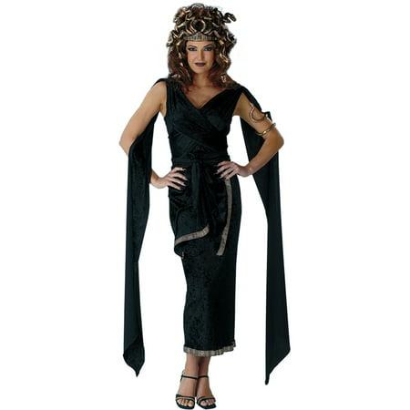 Morris Costumes Medusa Snake Headpiece Green Dress Adult Halloween Costume Size 12-14