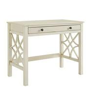 Linon Luster Antique White Desk