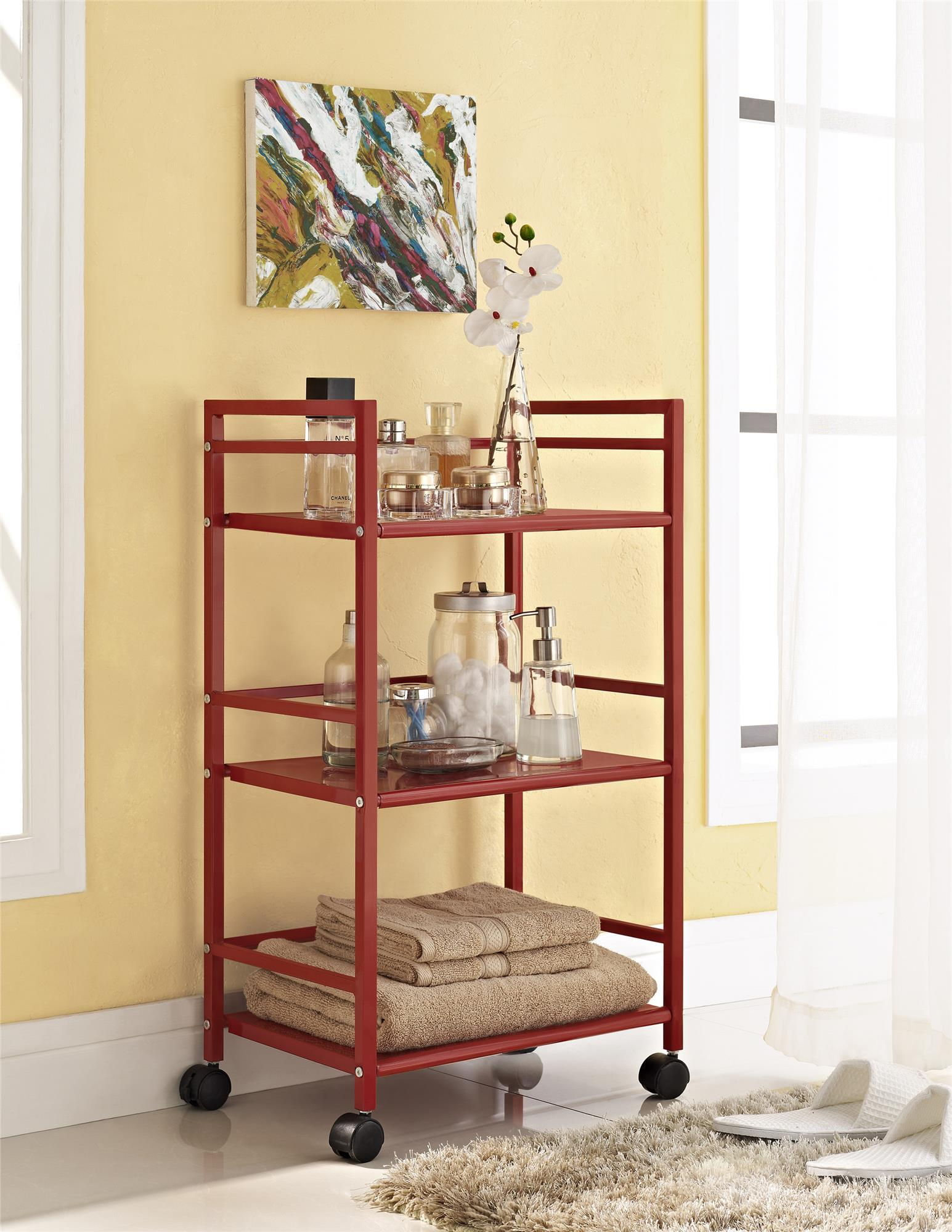 Ameriwood Home Marshall 3 Shelf Metal Rolling Kitchen Cart, Multiple Colors by Ameriwood