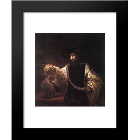 Aristotle with a Bust of Homer 20x24 Framed Art Print by