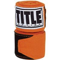 "Title Boxing 180"" Semi Elastic Mexican Handwraps - Orange"