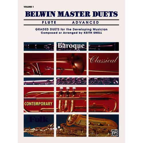 Belwin Master Duets, Saxophone, Advanced: Graded Duets for the Developing Musician