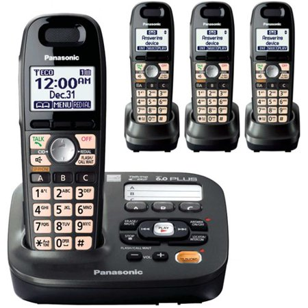 Panasonic KX-TG6594T DECT 6.0 Plus 4 Handset Big Button Amplified Cordless Phone Dect 6.0 Four Handset