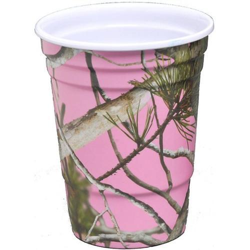 Havercamp BB76663 Pink Camo 16 oz. Melamine Party Cups