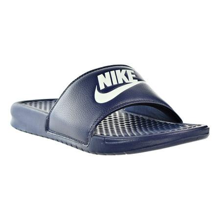 Nike Benassi Jdi Slide Mens Sandals Midnight Navy Wind Chill White 343880 403