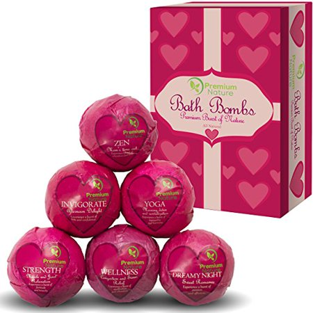 Bath Bombs Love Edition Limited 2.0 Set of 6 Handmade Natural with shea Butter Relieves Pain Moisturizes Gift for Her Relax Home Spa Bath