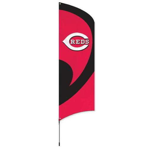 Reds Tall Team Flag with Pole