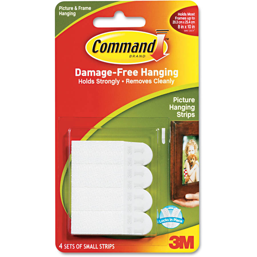 Command Small Picture Hanging Strips, White