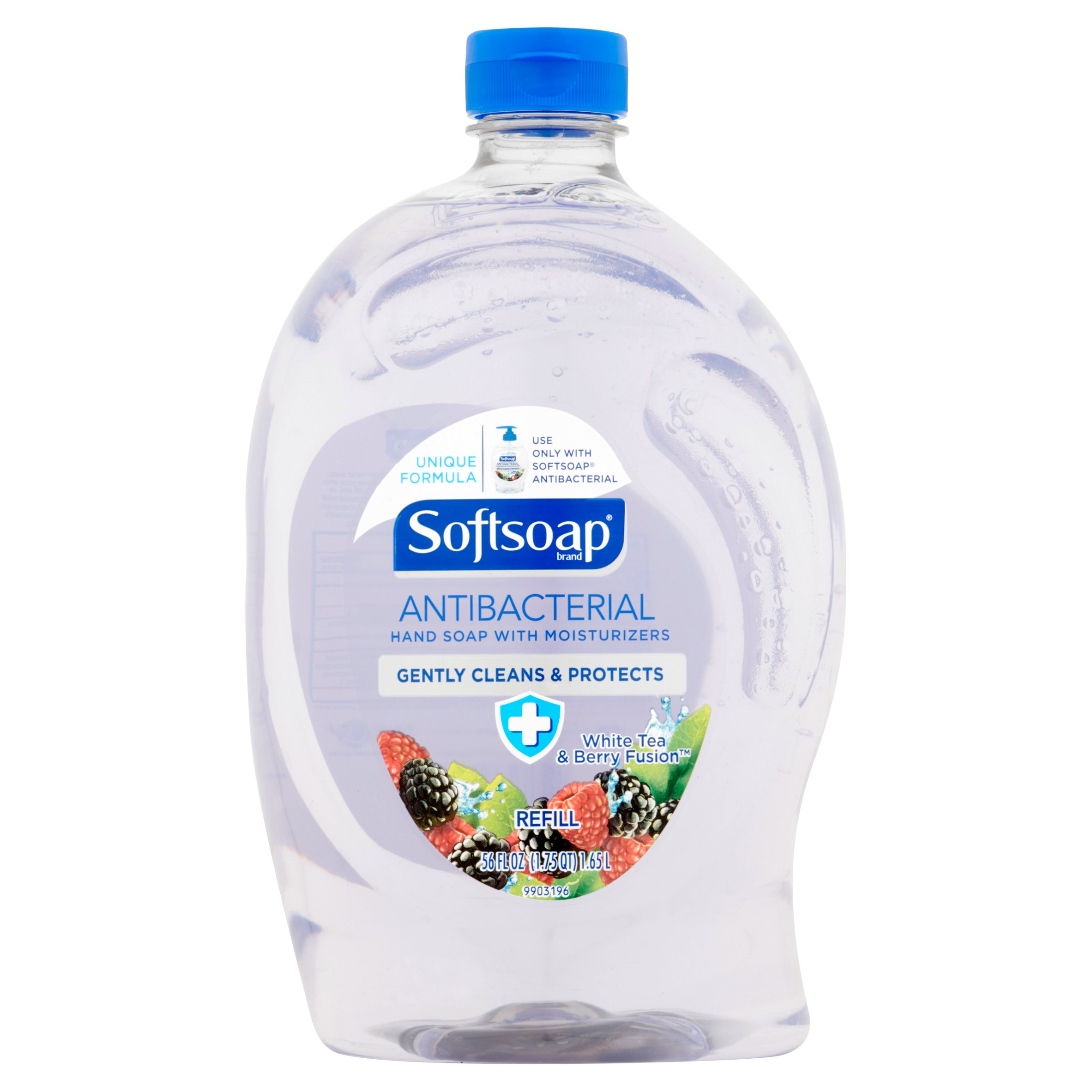 Softsoap Antibacterial Hand Soap Refill, White Tea and Berry Fusion - 56 fl oz