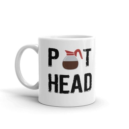 Pot Head Funny Novelty Humor 11oz White Ceramic Glass Coffee Tea Mug Cup](White Coffee Cups)