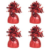 Foil Balloon Weight, Red, 4-Pack (4 Weights)