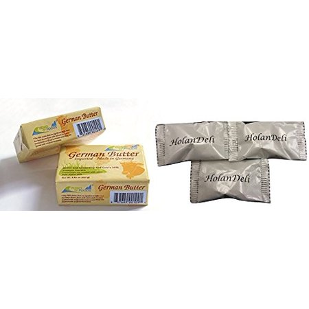 (pack of 6) Allgau Grass Fed German Butter Unsalted. Includes Our Exclusive HolanDeli Chocolate Mints