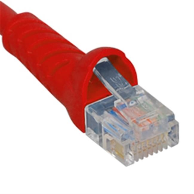 ICC ICPCSK07RD 7 ft. Ultra Slim Line Molded Boot Category 6 Patch Cord, Red