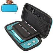 Travel Carry Case Storage Bag Pouch Compatible with Nintendo Switch Lite and Accessories, TSV Protective Handbag Case with 8 Game Cartridges Shockproof, Clear Cover Case
