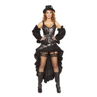 6pc Sexy Steampunk Maiden Costume