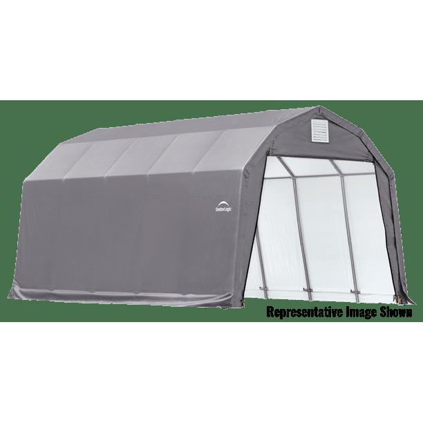 Shelterlogic 12 X 28 X 11 Barn Style Carport Shelter Walmart Com Walmart Com