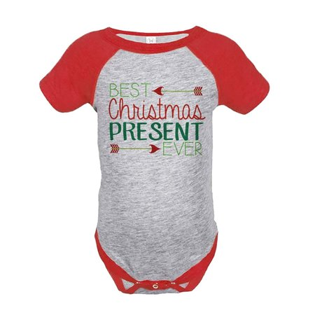 Custom Party Shop Baby's Best Present Ever Christmas Onepiece Red - 18