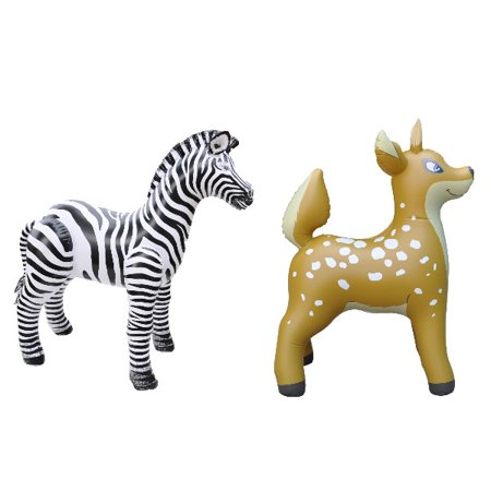 Inflatable Zebra Deer Animal Toy Party Gift Kids (ZEB3+DEER3)](Inflatable Animal)