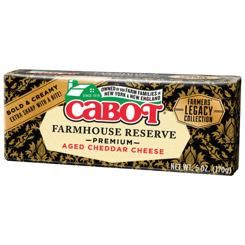 Cabot Farmhouse Reserve Aged Cheddar Cheese, 6 oz