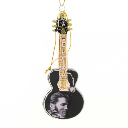 Holiday Ornaments ELVIS PRESLEY GUITAR Glass Hand Crafted Ep4181 (Glass Ornaments For Crafts)