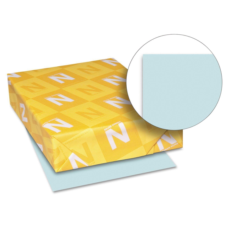 Neenah Exact Index 8.5 x 11 Blue Card Stock 90lb 250/Ream (49121)