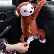 Zeus Creative Cartoon Monkey Home Office Car Hanging Paper Napkin Tissue Box Holder