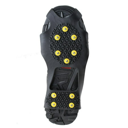 AGPtek Ice Snow Anti Slip Teeth Grip Shoe Covers Overshoes Snow Shoes Crampons Cleats S/M/L/XL